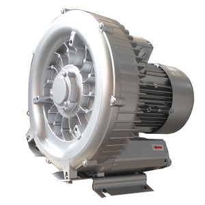 Big airflow side channel blower for vacuum loader