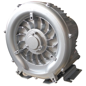 Centrifugal side channel blower for industrial vacuum cleaner
